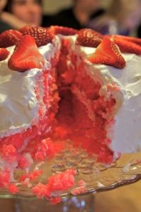 Strawberry Jell-O Cake