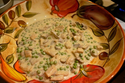 Cream Sauce with Peas & Mushrooms